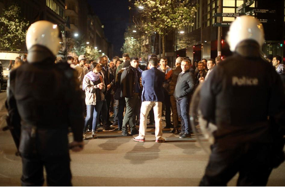 Moroccan World Cup celebrations injure 22 police in Brussels