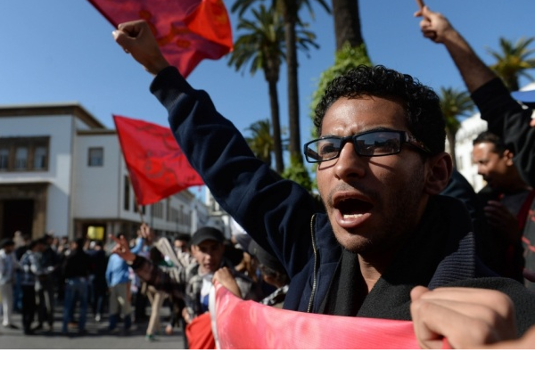 Protestors and police clash in Morocco