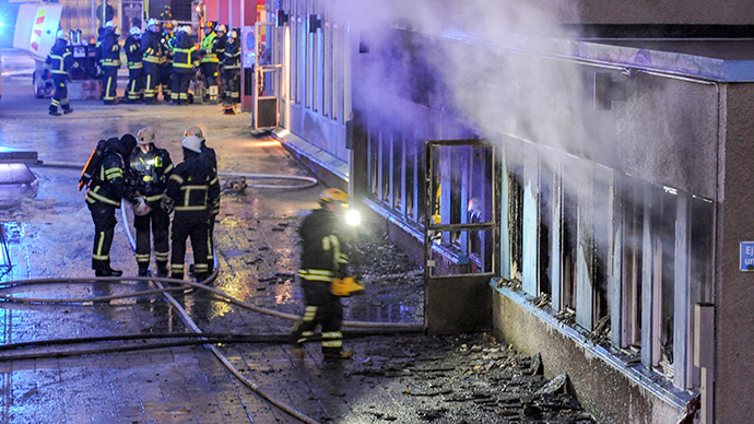 Swedish mosque gutted in suspected arson attack