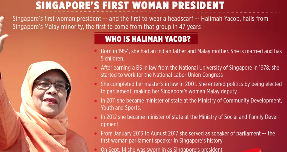 Singapore's first woman president