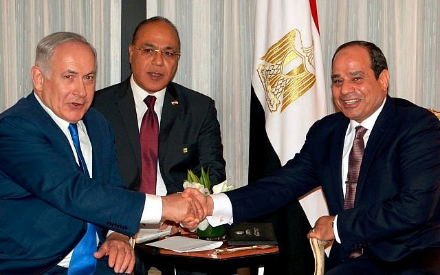 Egypt says Sisi met Israel PM at UN for first public talks