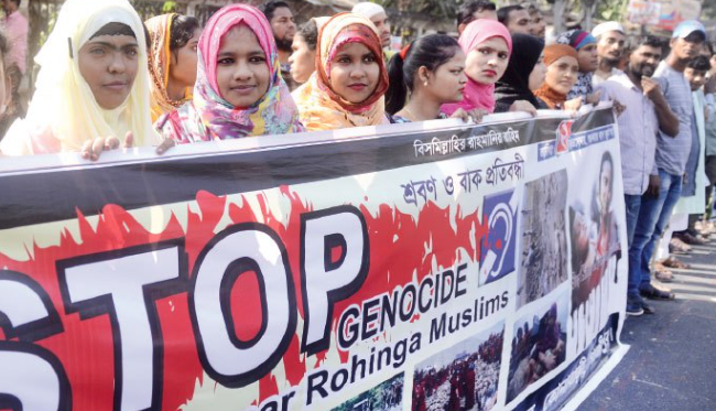 Stockholm protest raises voice for Rohingya Muslims