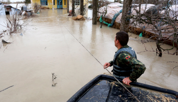 Albania sends in military rescue from huge floods