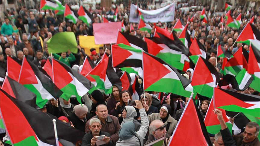 'Solidarity demonstrations have bolstered Palestinians'