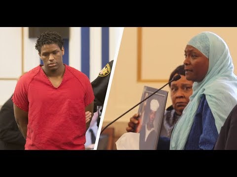 An emotional courtroom speech by a Muslim mother