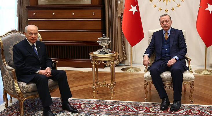 Erdogan discusses Afrin operation with MHP leader