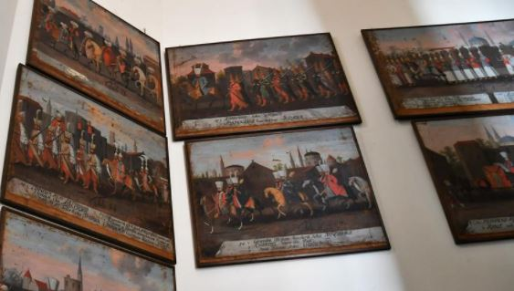 Paintings on Ottoman Sultan exhibiting in Sweden