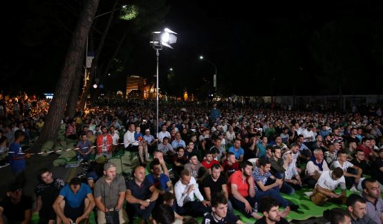 Muslims in Albania filled streets for the Night of Qadr