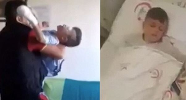 Heartbreaking moment of a young boy woke up blind