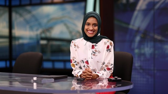 First hijabi US TV reporter to go on air