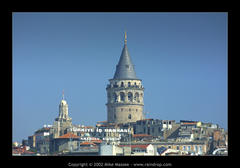 Watching Galata from its iconic tower