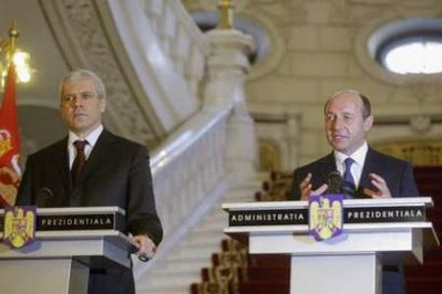 Romanian, Serb leaders meet over Kosovo