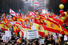 Madrid march opposes talks with Eta