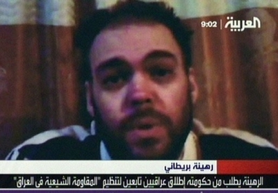 Video of British hostage in Iraq aired on Arabic TV