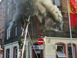 A new sabotage in Germany Turk building