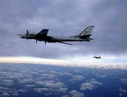 Russian 'Bear' bombers fly over the Atlantic