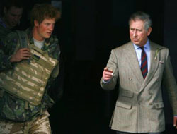 Britain's Prince Harry back from Afghanistan