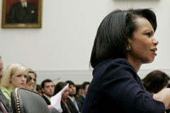 Rice confronted over Iran evidence