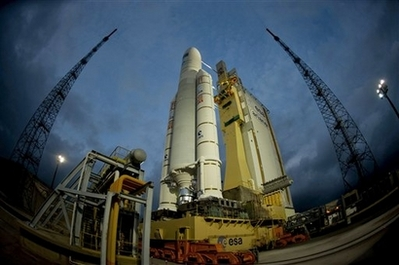 European cargo rocket takes off for space station