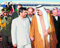 Ahmadinejad and King Abdullah reject sectarian strife