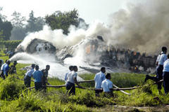 Indonesian jet explodes on runway