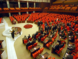 Turk parliament adopts motion for probing bugging claims