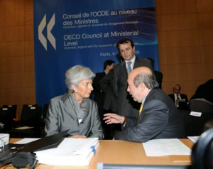 Turk minister in Paris OECD Council Meeting