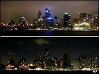 Sydney in Global Warming Blackout