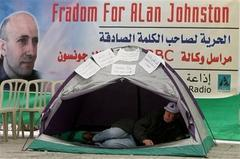 Palestinians protest BBC kidnapping