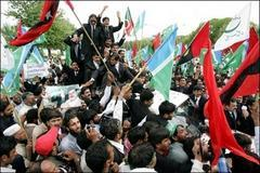 Protesters gather at Pakistan court