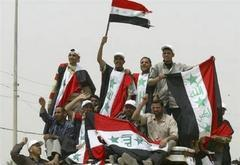 Iraqis flock to city for anti-U.S. protest