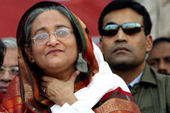 Ex-PM Hasina charged over murders