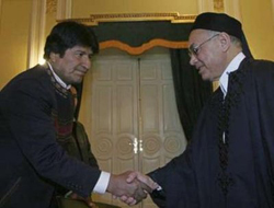 Morales in Libya, Iran for energy cooperation
