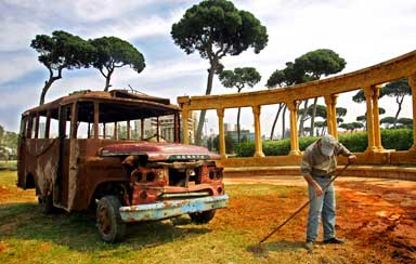 The bus in which Lebanese civil war began