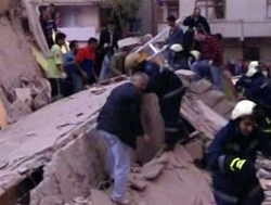 A building collapsed in Istanbul