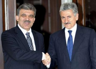 Gul and D'Alema meeting