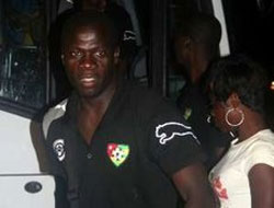 Togo soccer team returns home after quitting cup