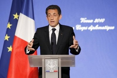 France's Sarkozy press on UN for 'strong measures' against Iran