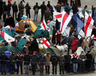 Belarus Police Clear Protesters