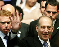 Olmert Claims Israeli Election Victory