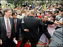 Vietnam Gives Gates Star Welcome