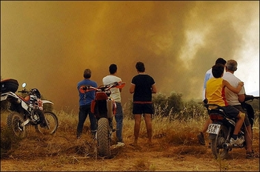 Fires continue to rage out of control across Greece