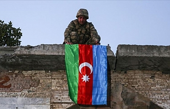 Azerbaijani flag hoisted in recently freed Lachin city