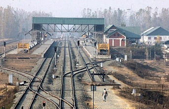 Rail services resume in Kashmir after 11 months
