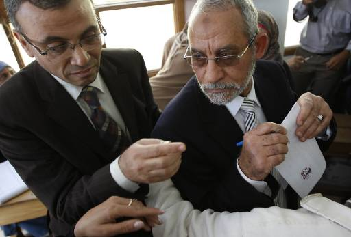 Egypt Brotherhood leader Badie commits to nonviolence