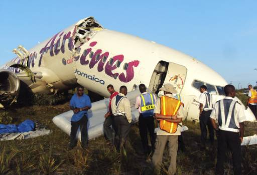 Caribbean Airlines flight crashes in Guyana