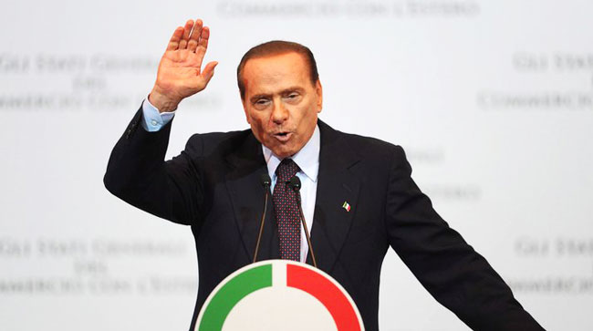 Berlusconi throws flat tax plan into election campaign