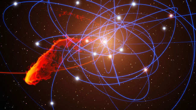Astronomers find giant black hole in early universe