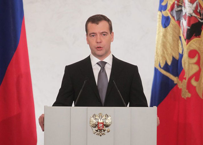 Medvedev: Russia supports Palestinian state