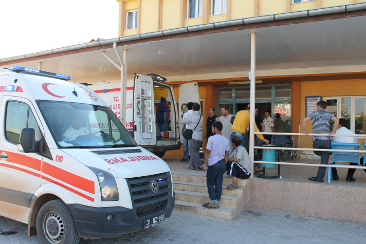 Turkish driver wounded in Syria taken to hospital in Turkey